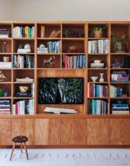 7 نمونه از کتابخانه خانگی چوبی