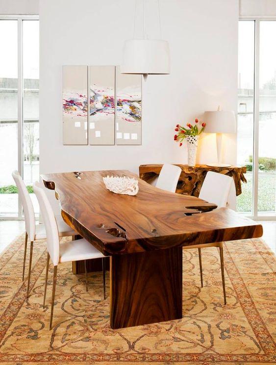 فروش مدل های جدید میز ناهار خوری روستیک با چوب طبیعی ، روستیک ایران (10)