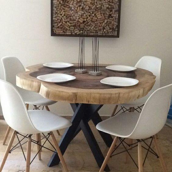 فروش مدل های جدید میز ناهار خوری روستیک با چوب طبیعی ، روستیک ایران (13)