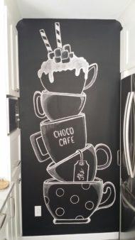 تخته سیاه های گچی کافه