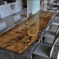 جدیدترین نمونه ها از میز ناهار خوری چوب و رزین