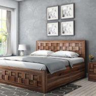 مدل و نمونه ی تخت خواب چوبی