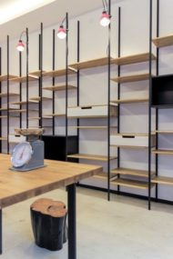 نمونه قفسه های ترکیب چوب و فلز