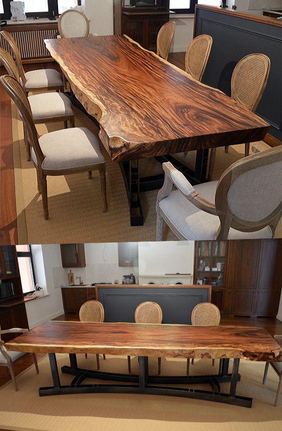 6 مدل میز ناهار خوری روستیک|چوب طبیعی درخت|سبک مدرن