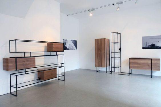 8 نمونه قفسه چوب و فلز مدرن (4)