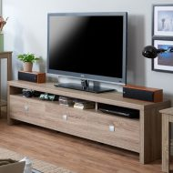 میز تلویزیون چوبی کشو دار