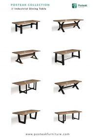میز کار لاکچری ترکیب چوب و فلز