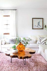 خرید میز جلو مبلی چوبی آمریکایی