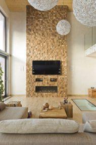 انواع دکور تلویزیون روی دیوار