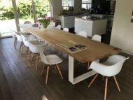 🌟🌟🌟🌟🌟مدل های جدید میز ناهار خوری 12 نفره با چوب و فلز