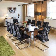 مدل های جدید میز ناهار خوری 10 نفره با چوب آنتیک